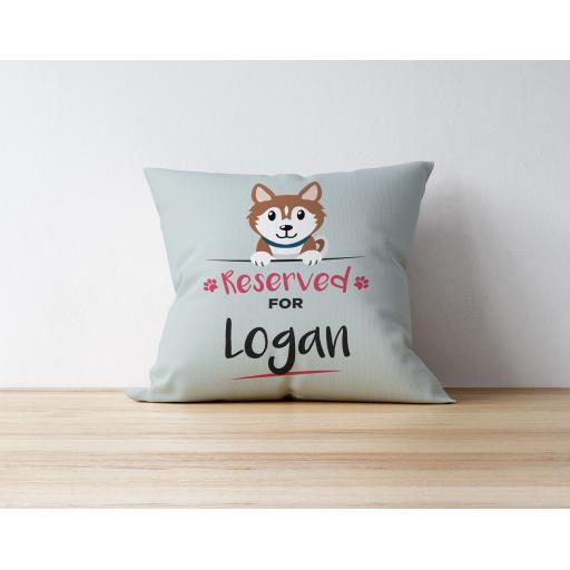 Personalised Brown Husky Cushion