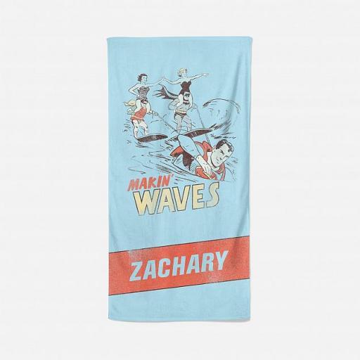 Personalised DC Justice League Vintage Personalised Towel.