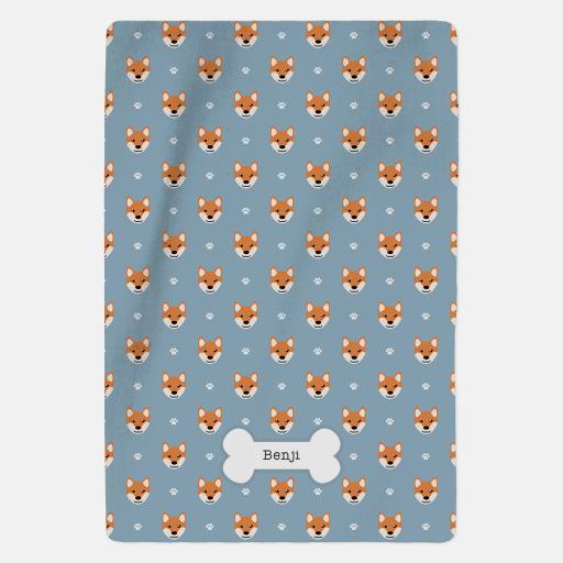 Personalised Shiba Inu Blanket - Pattern