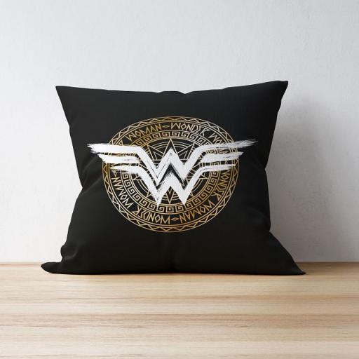 Personalised Wonder Woman™ Cushion - Crest.