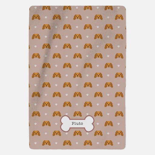 Personalised Golden Cocker Spaniel Blanket - Pattern