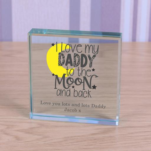 Personalised Glass Token - I love my Daddy