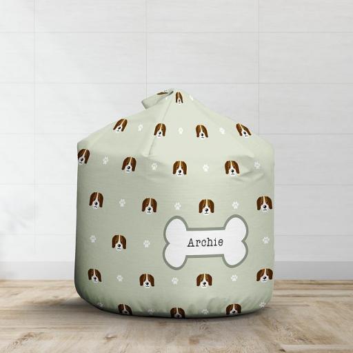 Personalised Beagle Bean Bag - Pattern