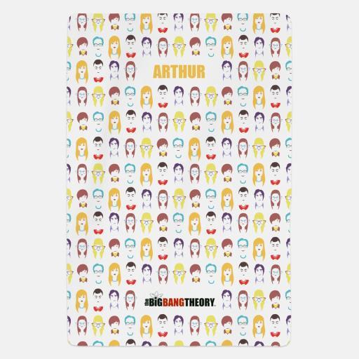 Big Bang Theory™ Emoji Personalised Fleece Blanket