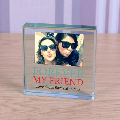 Personalised Glass Token - Forever My Friend