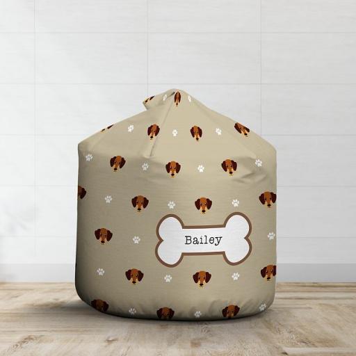 Personalised Caramel Dachshund Bean Bag - Pattern