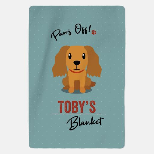 Personalised Golden Cocker Spaniel Blanket - Paws Off