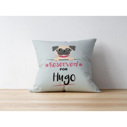 Personalised Fawn Pug Cushion