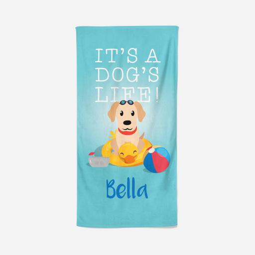 Personalised Labrador Towel - Dogs life