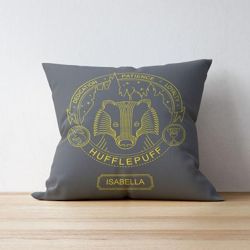 Hufflepuff™ House Emblem Cushion