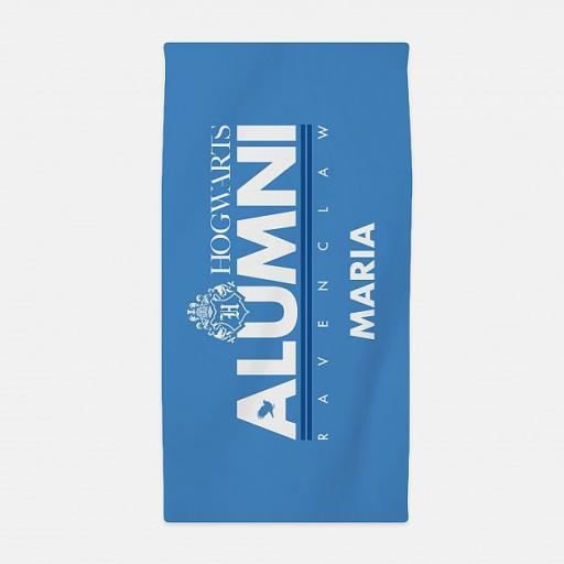 Ravenclaw™ Alumni Personalised Beach Towel