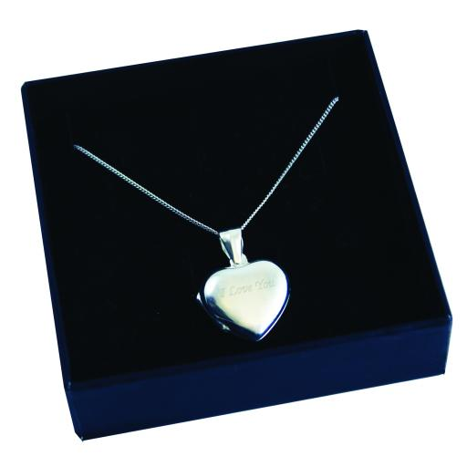 Engraved Heart Locket