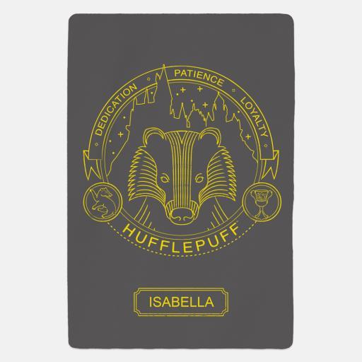 Hufflepuff™ Artifacts Personalised Fleece Blanket