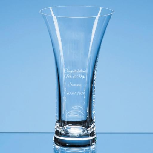 Personalised Design 1 - 21.5cm Neptune Plain Trumpet Vase.