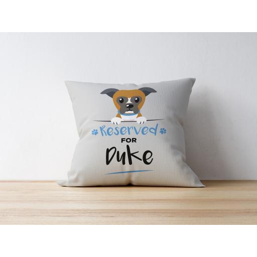 Personalised Boxer Cushion