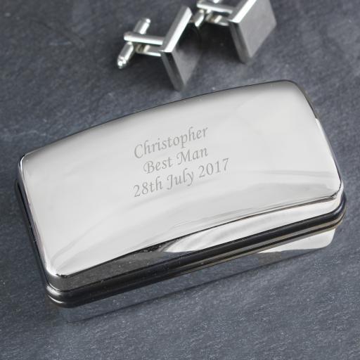 Personalised  Engraved Cufflink Box