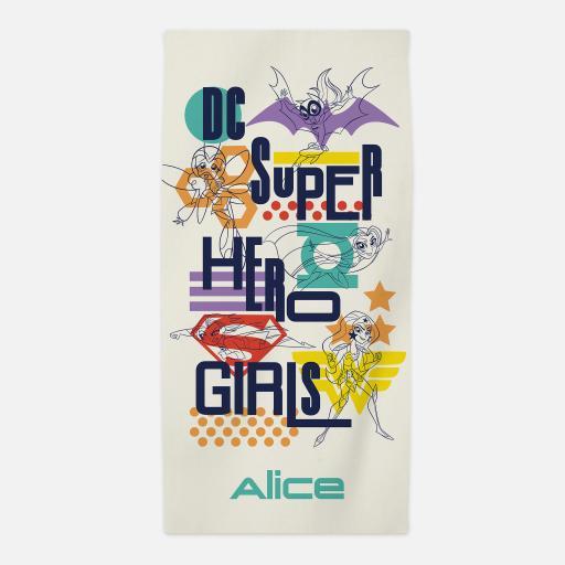Personalised Justice League™ Personalised Towel - Superhero Girls.