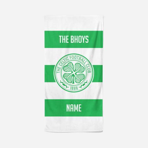 Celtic FC Stripes Design Towel