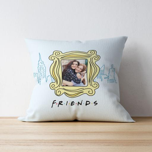 Personalised Friends Skyline Photo Upload Cushion.