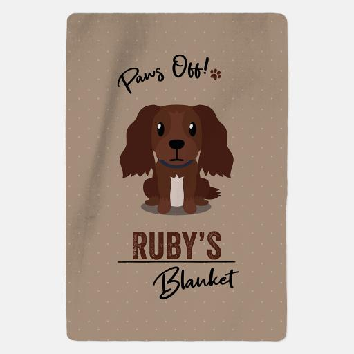 Personalised Brown Cocker Spaniel Blanket - Paws Off