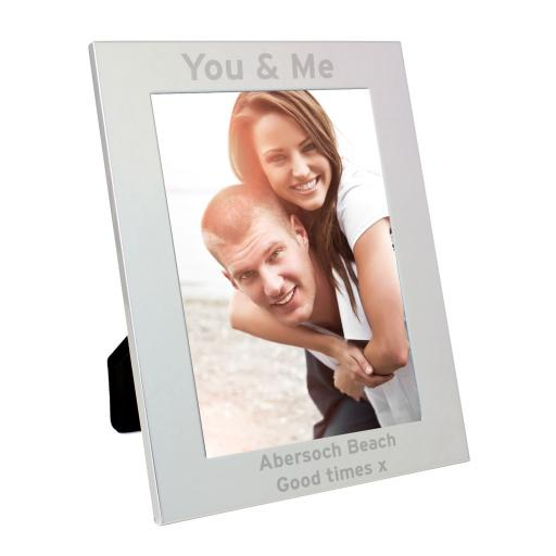 Personalised engraved Silver Bold Style Frame