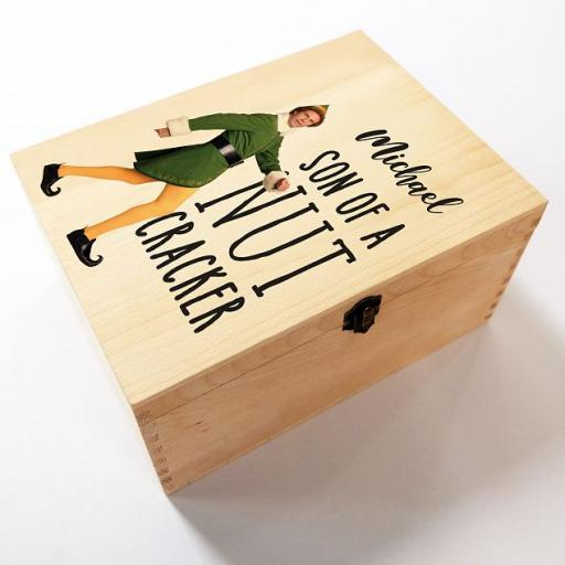 Personalised Elf Son of a Nut Cracker Christmas Eve Box.
