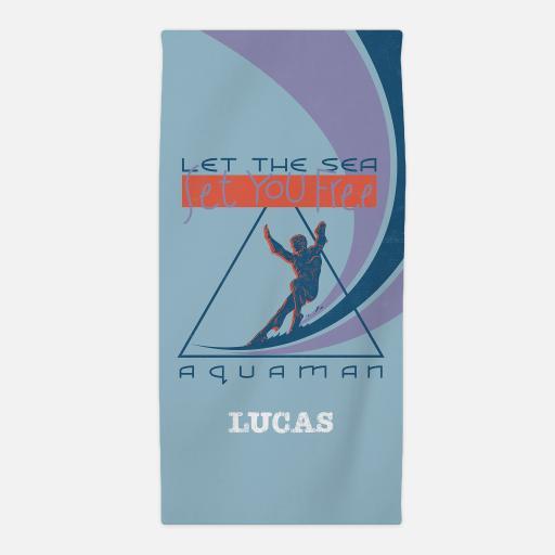 Aquaman Set Me Free Beach Towel