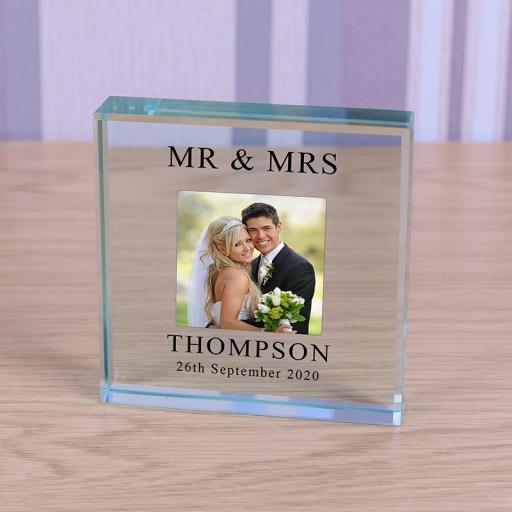 Personalised Glass Token - Wedding