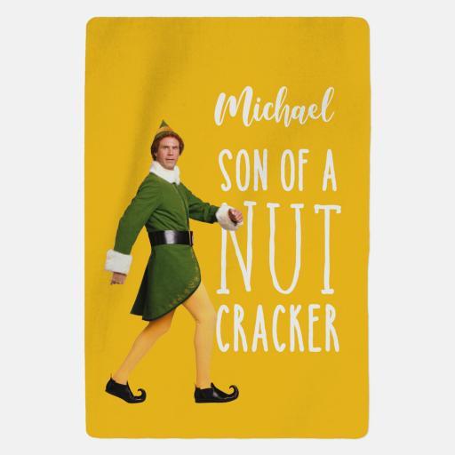 Personalised Elf™ Blanket - Son Of A Nut Cracker.