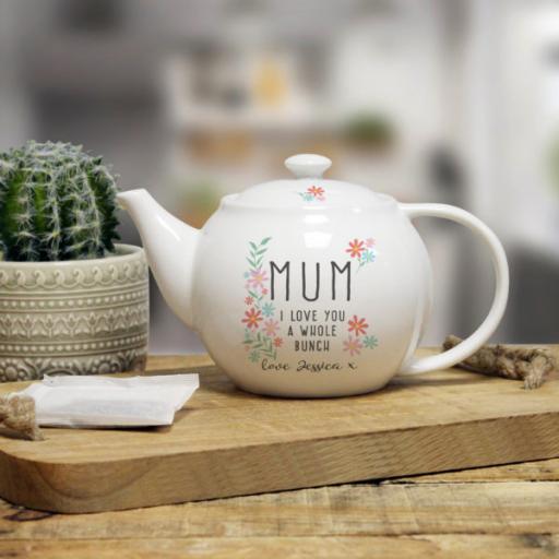 I Love You A Whole Bunch Tea Pot