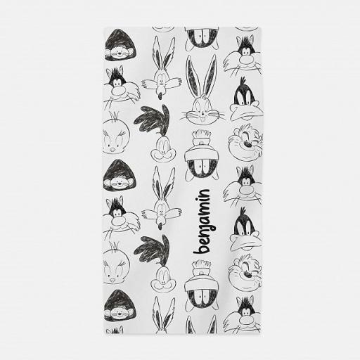 Personalised Baby Looney Tunes™ Sketch Beach Towel.