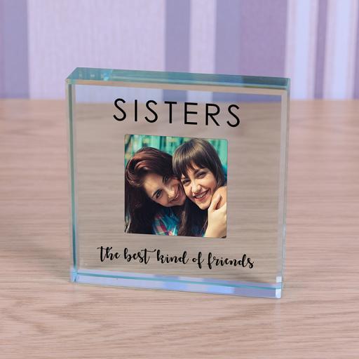 Personalised Glass Token - Sisters