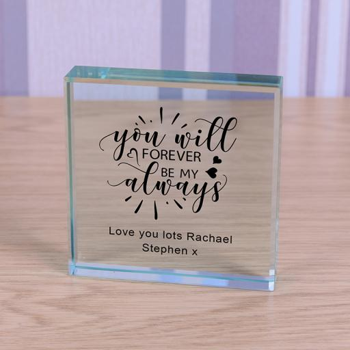 Personalised Glass Token - Forever My Always