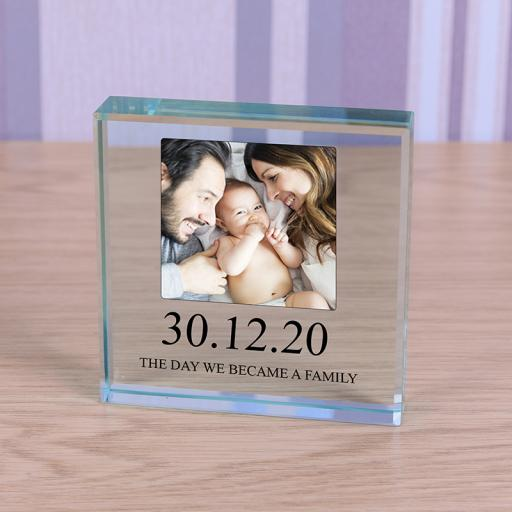 Personalised Glass Token - We Became A Family