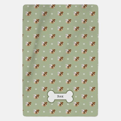 Personalised Bulldog Blanket - Pattern