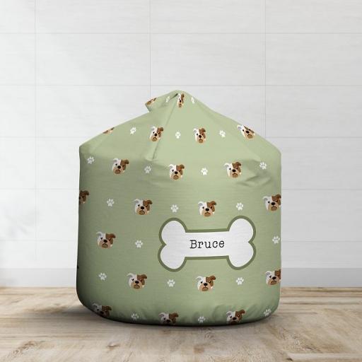 Personalised Bulldog Bean Bag - Pattern
