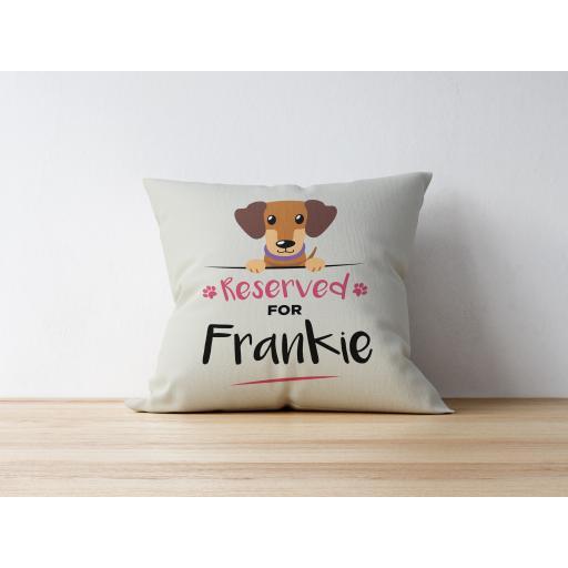 Personalised Dachshund Cushion