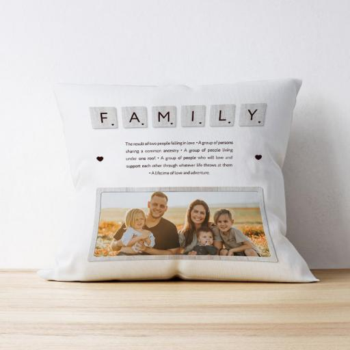Photo Upload Cushion - Family