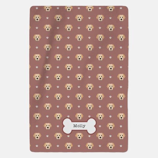 Personalised Labrador Fleece Blanket - Pattern