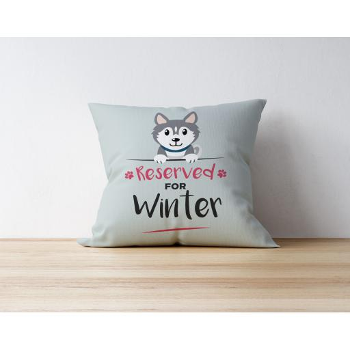 Personalised Grey Husky Cushion
