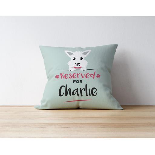 Personalised Westie Cushion
