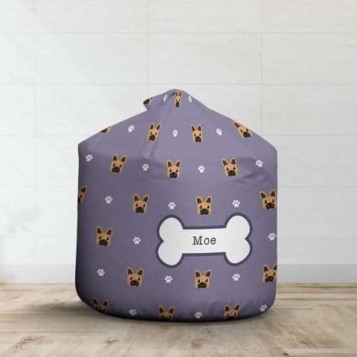Personalised Brown French Bulldog Bean Bag - Pattern