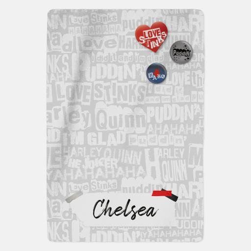 Harley Quinn™ Personalised Blanket - Pattern