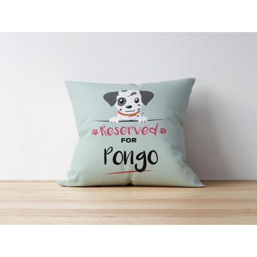 Personalised Dalmatian Cushion