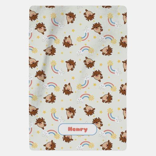 Personalised Looney Tunes™ Blanket - Baby Taz.