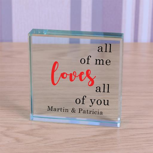 Personalised Glass Token - All of Me