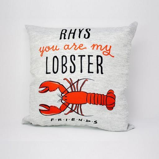 Personalised Friends™ Lobster Personalised Cushion.
