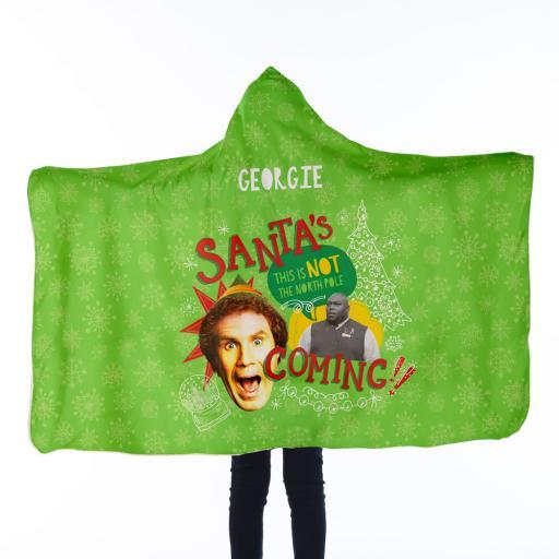 Personalised Elf™ Kids Hooded Blanket - Santas Coming.