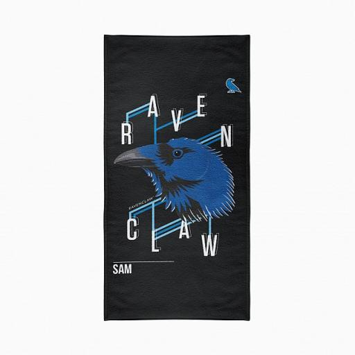 Ravenclaw™ Neo Print Personalised Beach Towel