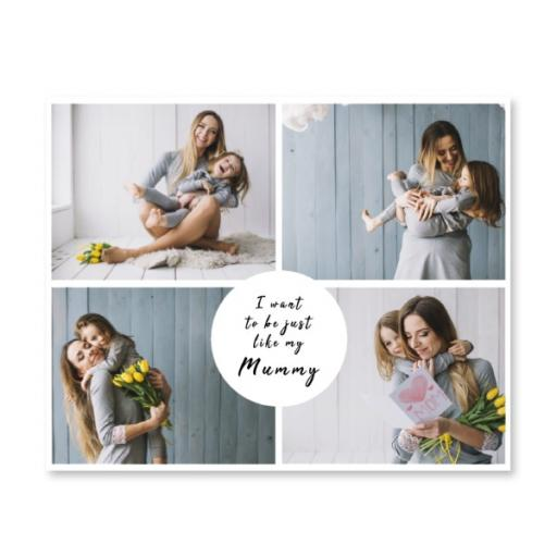 Large Canvas - I Want To Be Just Like Mum